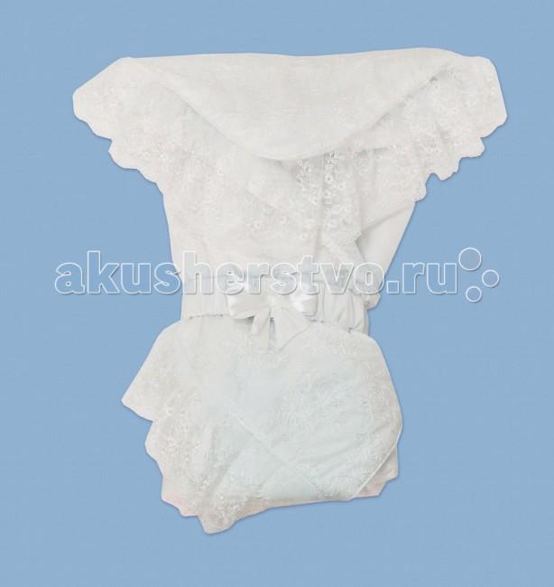 Лео Конверт-одеяло СонатаКонверт-одеяло СонатаУтепленное одеяло легко превращается в конверт.   Кружево создает роскошный стиль.   Вшитая вставка из шерсти служит утеплением в холодное время года.   Конверт закрывается с помощью пояса-резинки.  Состав: верх - курточная ткань, наполнитель - синтепон, подкладка - хлопок 100%, натуральная вставка (овечья шерсть 70%, полиэстр 30%)  Размер 100х100 см<br>