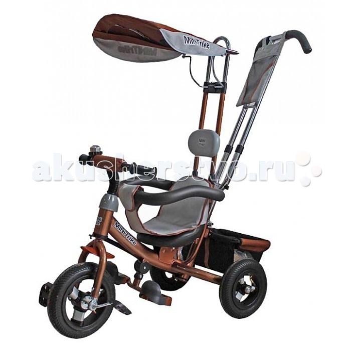 Велосипед трехколесный Mars Mini Trike с отдельной управляемой ручкойMini Trike с отдельной управляемой ручкойХит продаж!Трехколесный велосипед Mini Trike с управляемой родительской ручкой и удобной корзинкой для  игрушек. Регулируемый тент защищает малыша от солнца и дождя. Данная модель  ничем не отличается от своего предшественника - Lexx Trike.  Характеристики Mini Trike:  Стальная облегченная рама  Двойная хромированная родительская ручка управления  Раздвижной барьер безопасности  Комфортное регулируемое сиденье с мягким вкладышем  На руле мягкая поролоновая накладка для защиты головы ребёнка  Подголовник  Складная подножка с противоскользящими насечками  Регулируемый тент  На руле металлический звонок  На родительской ручке два кармашка  Бесшумные колеса из ПВХ не требуют подкачки  Багажник  Размеры (дхшхв): 84 х 47 х 105 см  Вес: 9.5 кг   Обратите внимание, модель в синей, желтой и коричневой расцветках выпускаются с новой удобной подножкой.<br>