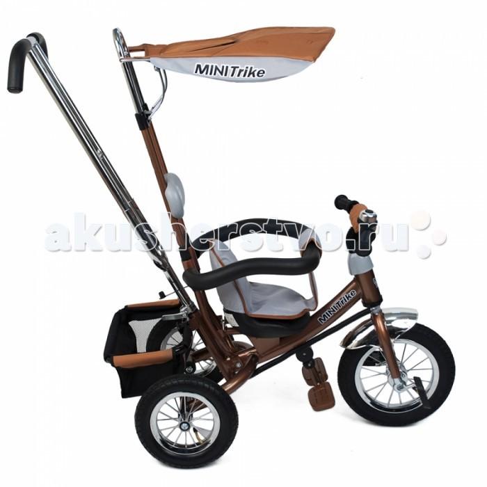 Велосипед трехколесный Mars Mini Trike с  управляемой ручкойMini Trike с  управляемой ручкойТрехколесный велосипед Mini Trike с управляемой родительской ручкой и удобной корзинкой для  игрушек. Регулируемый тент защищает малыша от солнца и дождя. Данная модель  ничем не отличается от своего предшественника - Lexx Trike.   Характеристики Mini Trike:   Надувные колеса со спицами  Стальная облегченная рама  Двойная хромированная родительская ручка управления  Раздвижной барьер безопасности  Комфортное регулируемое сиденье с мягким вкладышем  На руле мягкая поролоновая накладка для защиты головы ребёнка  Подголовник  Складная подножка с противоскользящими насечками  Регулируемый тент  На руле металлический звонок  На родительской ручке два кармашка  Бесшумные надувные колеса Багажник  Размеры (дхшхв): 84 х 47 х 105 см  Вес: 9.5 кг<br>