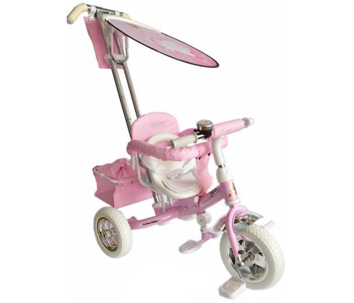 Велосипед трехколесный Lexus Original Next BarbieOriginal Next BarbieТрехколесный велосипед Original Next Barbie с управляемой родительской ручкой и удобной корзинкой для игрушек. Регулируемый тент защищает малыша от солнца и дождя.   Характеристики: хромированная облегченная рама, покрытая краской с блеском, которая очень красиво переливается на солнце удобные, противоскользящие складывающиеся подножки мягкое сиденье, регулируемое относительно руля в трех положениях в зависимости от роста ребенка трехточечные ремни безопасности удобная и очень прочная родительская ручка управления, на нее можно опираться, она легко выдержит нагрузку взрослого человека легкий, складывающийся тент с фотопринтом защитит от дождя и солнца бампер-ограничитель для дополнительной безопасности малыша большие колеса из вспененного ПВХ диски цвета хром педали с рифлением звонок сумочка для мелочей багажная корзина  Размеры (дхшхв): 90 х 53 х 110 см Вес: 9.2 кг<br>