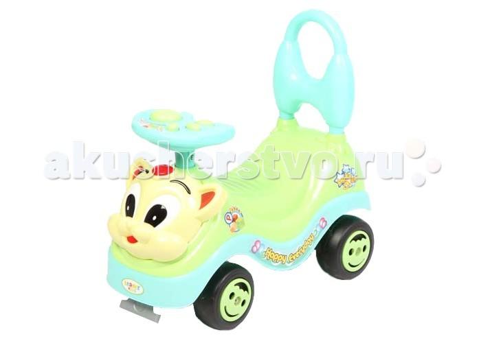 Каталка Leader Kids QX-3311-2QX-3311-2Каталки являются первым транспортом для ребенка после коляски. Если Ваш ребенок еще мал, и осваивать велосипед ему ещё рано, то каталка-машина - это как раз то, что Вам нужно.  Ребенок будет прилагать усилия для передвижения, отталкиваться ногами и, тем самым, развивать моторику и внимание, приобретать навыки езды и управления с помощью каталки.  -для детей 1-5 лет -прочный пластик -музыкальный руль -яркий и стильный дизайн -ручка-толкатель для ребенка -ограничитель против опрокидывания -дутые колеса диаметром 10,8 см  Размер каталки (ВхДхШ): 47х51х24,5 см.  Вес: 2,05 кг.<br>