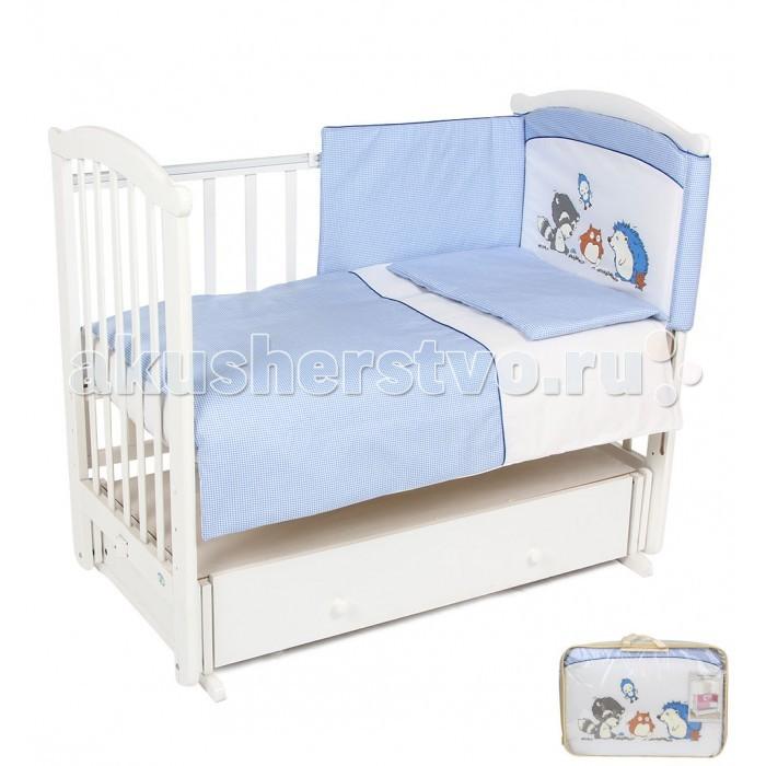 Комплект в кроватку Leader Kids Енот (7 предметов)