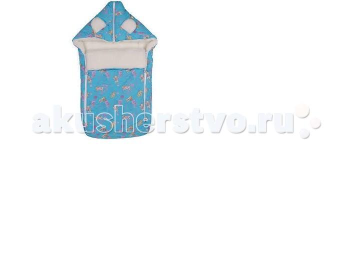 Зимний конверт Leader Kids Мишка с букетом