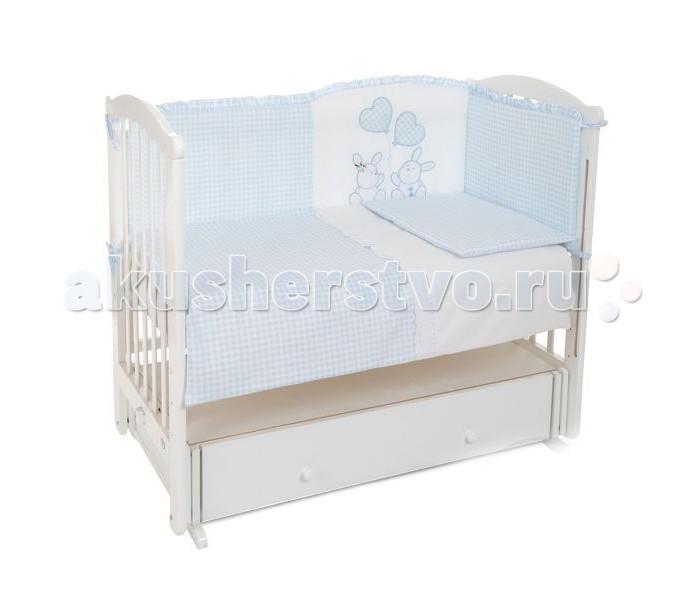 Комплект для кроватки Leader Kids Зайчата (7 предметов)