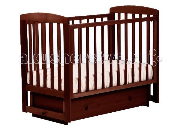 Детская кроватка Кубаньлесстрой АБ 16.2 Ромашка маятник поперечный с ящиком
