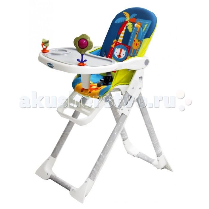 Стульчик для кормления Little King LK-301LK-301Little King Стульчик для кормления LK-301   Стульчик для кормления имеет удобную столешницу с игрушками, которая регулируется и имеет съемный поднос. Стульчик имеет подножку, которую можно регулировать в двух положениях. Максимальный вес ребенка – 18 кг, что позволяет использовать стульчик уже довольно взрослым детям.   Для удобства малыша модель оснащена: разделителем для ножек; съемным чехлом, который легко снимается и просто стирается; пятиточечными ремнями безопасности.   Дизайн стульчика создан с веселыми персонажами, которые не только пробуждают аппетит у ребенка, но и стимулируют его зрительное восприятие.<br>