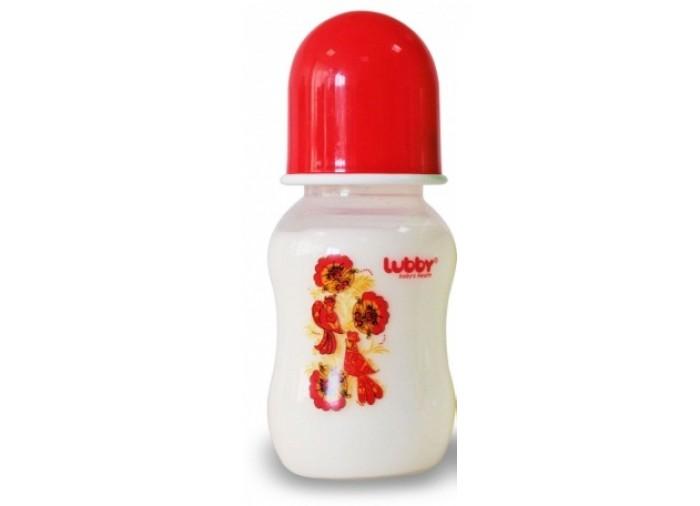 Бутылочка Lubby Русские мотивы с силиконовой соской с 0 мес. 240 мл