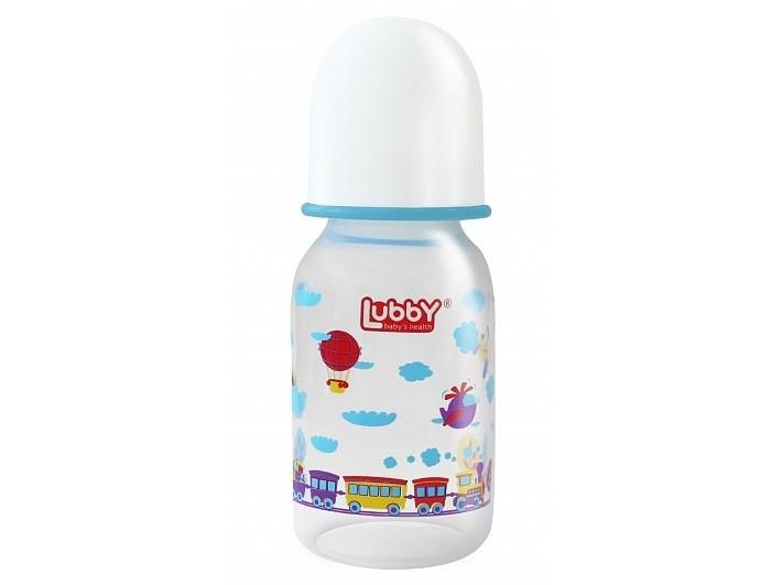 Бутылочка Lubby Малыши и малышки с силиконовой соской с 0 мес. 125 мл