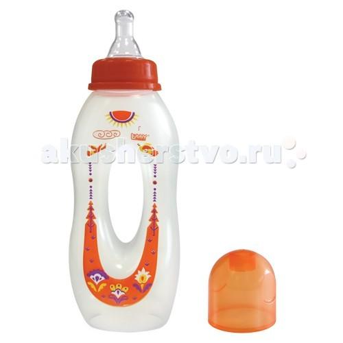 Бутылочка Lubby Бублик с силиконовой соской с 0 мес. 250 мл