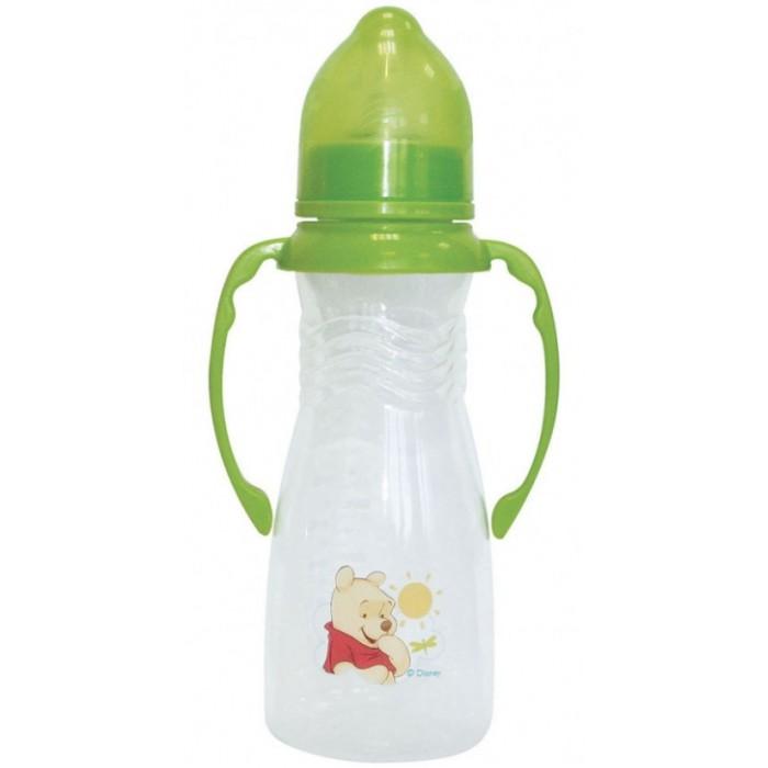 Бутылочка Lubby Медвежонок Винни с силиконовой соской и ручками с 0 мес. 250 мл