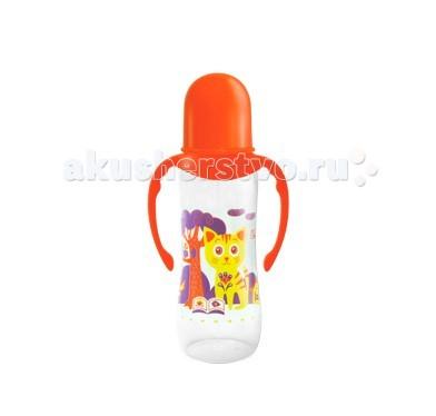 Бутылочка Lubby Русские мотивы с ручками с силиконовой соской с 0 мес. 240 мл