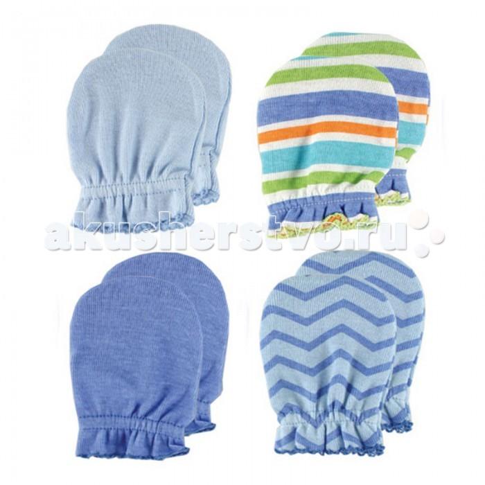Luvable Friends Антицарапки 4 пары 55-67 смАнтицарапки 4 пары 55-67 смКомплект из четырёх пар рукавичек-антицарапок для новорождённых.   Антицарапки согревают ручки малыша, а также предотвращают царапание.   Изготовлены из натурального хлопчатобумажного трикотажа.   Состав материала: 100% хлопок  Комплект предназначен для детей от 0 до 6 мес.  Предварительная стирка обязательна.   Стирка при t не более 40С.  Гладить при t не более 150С.  Сухая чистка запрещена.  Обычный процесс сушки в барабане.  Отбеливать без хлора<br>