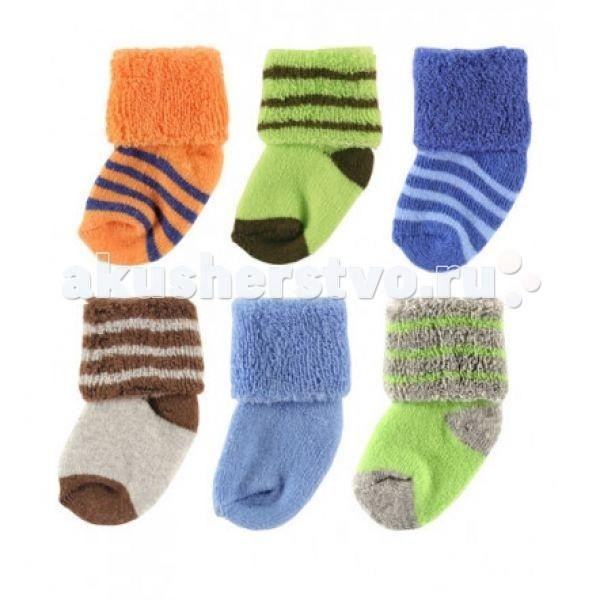 Luvable Friends Носочки в мешочке для стирки 6 пар 55-61 см