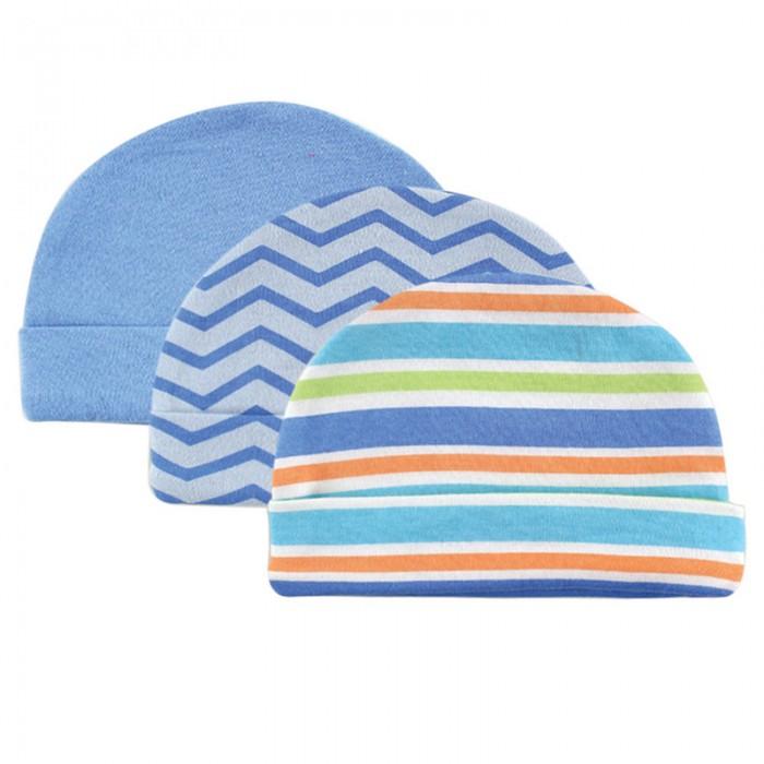 Luvable Friends Шапочки 3 шт. 55-67 смШапочки 3 шт. 55-67 смКомплект из трёх шапочек для новорождённых.   Шапочки изготовлены из натурального хлопка, хорошо тянутся, но при этом не сдавливают голову малыша.   Каждая шапочка в комплекте имеет уникальный дизайн.   Яркие цвета привлекают внимание. Это незаменимый аксессуар на каждый день.   Состав материала: 100% хлопок  Комплект предназначен для детей от 0 до 6 мес.  Предварительная стирка обязательна.   Стирка при t не более 40С.  Гладить при t не более 150С.  Сухая чистка запрещена.  Обычный процесс сушки в барабане.  Отбеливать без хлора<br>