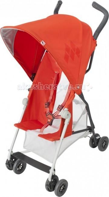 Коляска-трость Maclaren Mark IIMark IIКоляска-трость Maclaren Mark II – яркая, стильная, оригинальная и необычайно комфортная, она придется по вкусу как родителям, так и их маленьким непоседам. Удобное сиденье с регулируемым положением спинки и дышащей сеткой по бокам, объемный регулируемый капюшон, пятиточечные ремни безопасности и вместительная сетчатая корзина для покупок – это только часть преимуществ Maclaren Mark II.  Сидение:  Для детей от 6 месяцев  Максимальный вес ребенка 15 кг  Ультралегкий вес — всего 3,3 кг  Капюшон: регулируется, защищает от УФ  Солнцезащитный складной козырек  Пятиточечные ремни  Спинка: не регулируется, сделана в форме гамака  Подножка не регулируется, внизу есть подножка для подросшего малыша   Шасси: Легкая алюминиевая рама  Складывается компактной тростью за считанные секунды  Сдвоенные колеса  Передние колеса поворотные с блокировкой  Ножной тормоз  Ручки эргономичной формы, ремешок на руку в комплекте Можно нести за ручку для переноски   В комплекте: Дождевик Ремешок на руку  Вес с упаковкой (брутто): 6 кг Объем: 0,07 м3<br>