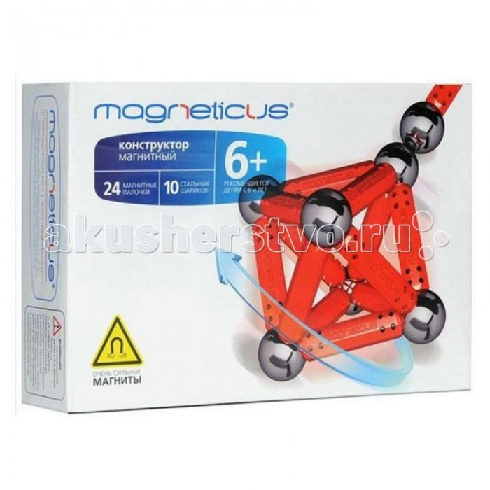 Конструктор Magneticus 34 элемента34 элементаМагнитный конструктор MAGNETICUS, 34 элемента является превосходным способом развить у ребенка воображение, научить фантазировать. Удивительные конструкции, созданные как на плоскости, так и в трехмерном пространстве, будут радовать не только малыша, но и родителей. С помощью палочек-магнитов и металлических шариков можно построить различные фигуры и выучить цифры, буквы, научиться считать и многое другое.  В комплект Конструктора MAGNETICUS входят 24 магнитные палочки синего цвета, 10 стальных шариков, инструкция, образцы. Все элементы конструктора созданы из экологически чистых и безопасных материалов.  Для детей старше 5 лет.<br>