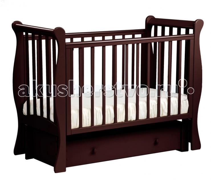 Детская кроватка Кубаньлесстрой АБ 21.3 Лаванда маятник продольный с ящикомАБ 21.3 Лаванда маятник продольный с ящикомНадежность и долговечность - вот те качества, которые вы найдете в кроватке Лаванда от российского производителя Кубаньлесстрой! Оптимальное сочетание цены и качества делает эти детские кроватки одной из самых популярных покупок для младенцев.  Описание: кровать маятниковая с ящиком  маятниковый механизм продольного качания  три положения передней стенки  три уровня положения дна  2 съемные планки с передней стенки  силиконовые накладки  один изолированный ящик на роликовых направляющих  съемная передняя стенка  безопасное расстояние между рейками 80мм размер ложа: 1200х600 мм   Габаритные размеры в собранном виде  139х66х109.5  Габаритные размеры в упакованном виде  125х74х17  Высота ложа от пола(1,2,3 уровни)  33.5х43.3х53 Внутренние размеры ящиков (коробов) 105.5х43х16.5  Вес 40 кг<br>