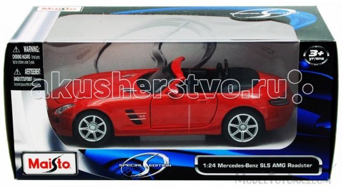 Maisto Автомобиль Mercedes-Benz SLS AMG RoadsteАвтомобиль Mercedes-Benz SLS AMG RoadsteАвтомодель Maisto Mercedes-Benz SLS AMG Roadste - высококачественная коллекционная модель реального автомобиля в масштабе 1:24.    Особенности:   У автомодели литой металлический корпус с высокой детализацией двигателя, интерьера салона, дисков, протекторов и выхлопной системы  У машинки открываются двери, капот, багажник  Колеса амортизированы  Есть специальная пластиковая подставка для авто  Материал автомобиля металл с пластиковыми частями<br>