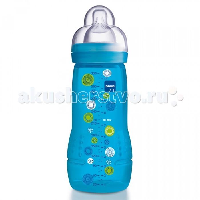 Бутылочка MAM 330 мл330 млС вместительной бутылочкой от фирмы MAM даже новорожденный малыш чувствует себя прекрасно.   Благодаря специальному отверстию на дне бутылочки жидкость подается равномерно – без пузырьков воздуха. Таким образом, исключая попадание воздуха в живот, это очень важно для спокойного животика малыша.   Специалисты MAM разработали соску, с которой переключение между мамой и МАМ происходит особенно легко. Потому что она осязается как шелковисто-мягкая и приятная, нет ничего лучше ее после мамы. В этом и заключается уникальность MAM Silk Teat®.  С соской MAM Silk Teat® – никакой другой силикон не сравнится с ним по осязаемой мягкости Детализированная шкала, делающая возможным точное дозирование Удобно держать в руке, легко наполнять Возраст: от 4 месяцев. Объем: 330 мл. Материал:полипропилен, силикон. Необходимо вымыть перед первым использованием. Вес: 0.20 кг Длина: 7.00 см Ширина: 7.00 см Высота: 21.50 см<br>