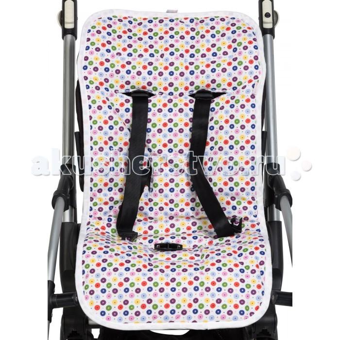 Mammie Хлопковый матрасик в коляску и автокреслоХлопковый матрасик в коляску и автокреслоХлопковый матрасик Mammie в коляску и автокресло  Летний хлопковый матрасик с 8-ю прорезями для ремней безопасности подходит для большинства колясок и втокресел.  Одна сторона выполнена из яркой хлопковой ткани, идеальной для лета. Вторая Морская сторона выполнена из мягкой нескользящей махровой ткани, хорошо впитывающая влагу, создает прохладу и комфорт малышу.<br>