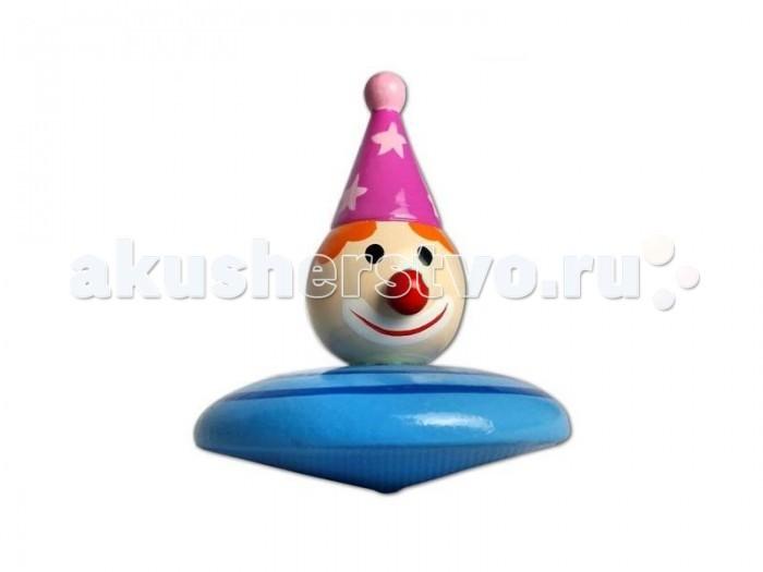 Деревянная игрушка Mapacha Волчок Клоун/Петрушка