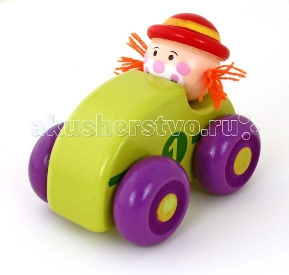 Mapacha Машинка КлоунМашинка КлоунMapacha Машинка Клоун - деревянная игрушка для малышей.  Выполнены из качественной древесины<br>