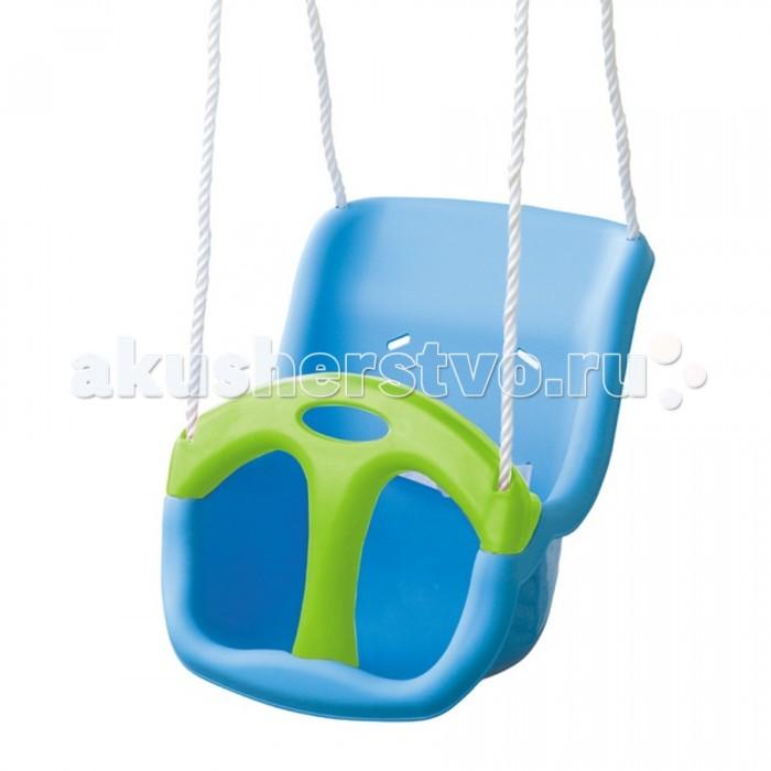 Качели Palplay (Marian Plast) подвесныеподвесныеДетские качели можно использовать для веселого катания в помещении и на улице. Они очень удобны и просты в применении. Дополнительно к пластиковому поручню в качелях предусмотрен еще и ремешок для полной безопасности ребенка, который опускается и поднимается.   Качели подвешиваются за металлические кольца (диаметр 32 мм).  Канатики (диаметр 12 мм) выполнены из очень прочных материалов. Ваш малыш будет очень доволен таким ценным приобретением!  Размер качелей: 35x36.5x50h см Расцветки: Голубой/Салатовый Вес: 2.12 кг  Материал: пластик  Максимально допустимая нагрузка - 30 кг<br>