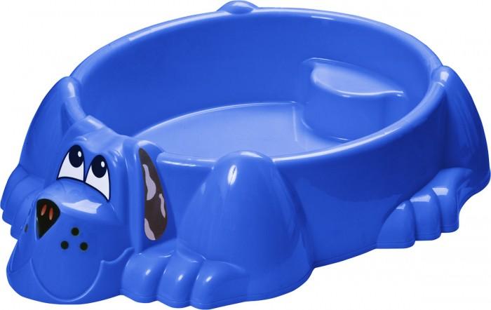Palplay (Marian Plast) Песочница-бассейн СобачкаПесочница-бассейн СобачкаЭта очаровательная собака украсит любой двор. Можно насыпать песок или налить воды. Прочный безопасный пластик. Широкие бортики. На специальном выступе малыш может посидеть.   Размеры : 115x92x25.  Вес:4 кг.<br>