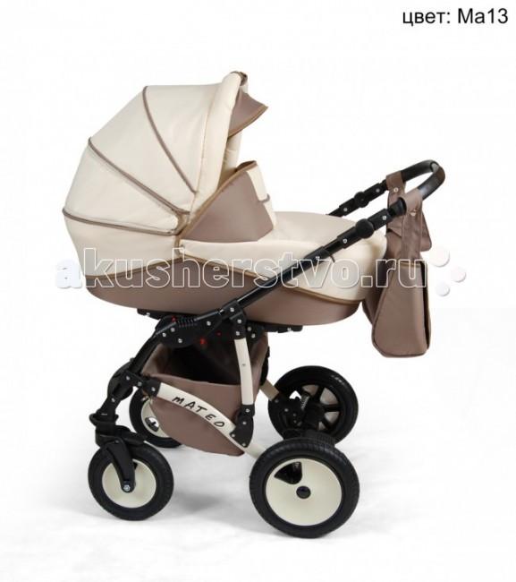 Коляска Alis Mateo 2 в 1Mateo 2 в 1Коляска Alis Mateo 2 в 1, выполненная в привлекательном дизайне коляска обеспечит комфорт Вашему малышу. Очень удобная и легкая в пользовании. Амортизаторы и надувные колеса обеспечат мягкую езду. В комплект входят: шасси, люлька с матрасиком, прогулочный блок, накидка на ножки, сумка для мамы.  Люлька: имеется ручка для переноски увеличенный козырек вентиляционное окно регулируемый подголовник накидка с высоким воротом деревянное дно  Прогулочный блок: устанавливается в любом направлении регулируемая спинка регулируемая подножка 5-ти точечные ремни съёмный бампер  Шасси: компактно складывающаяся рама регулируемая по высоте ручка в кожаном чехле поворотные передние колеса с фиксацией регулируемая задняя подвеска стояночные тормоза корзина для покупок Размеры: диаметр передних колес: 23 см. диаметр задних колес: 29 см.  Параметры: пружинные амортизаторы  алюминиевая рама колеса надувные передние колеса поворотные, фиксируются в прямое положение прогулочный блок устанавливается по ходу движения и против регулируемая подножка Регулировка наклона спинки Чехол для ножек Большая удобная корзина   Комплектация: люлька, прогулочный блок, рама, колеса, матрасик в люльку, чехол на ножки, москитная сетка, дождевик, сумка для мамы.  Размеры коляски (ШxВxД): 60x117x102 см Внутренний размер люльки: 75x35 см Внешний размер люльки: 42х82 см<br>