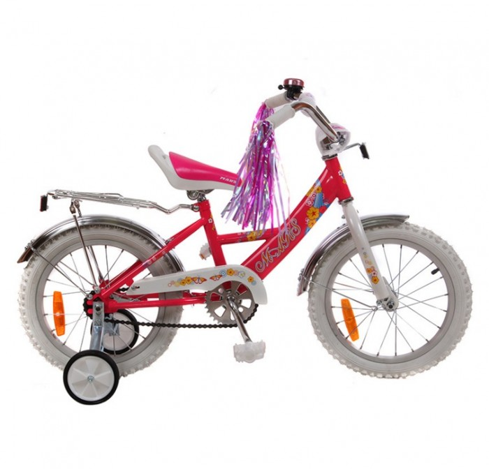 Велосипед двухколесный Mars С1601С1601Велосипед двухколесный Mars С1601 с корзиной, на рост от 98-122 см.  Особенности: Диаметр колес: 16 inch/дюйм Велосипеды оснащены дополнительным ручным тормозом, научившись ездить в детстве, в будущем легче будет ездить на скоростных велосипедах, где ножной тормоз отсутствует. Конструкция тормозной ручки позволяет регулировать расстояние между тормозной ручкой и рулём. Сидение и руль регулируются в зависимости от роста ребёнка. Разнонаправленное регулирование сидения и руля позволяет выбрать максимально удобное положения для ребёнка. Мягкое кожаное сидение спортивной формы оснащено ручкой для переноски велосипеда. Геометрия рамы велосипеда и высокое качество втулок обеспечивают более лёгкое движение. На руле (на металлическом узле) находится мягкая поролоновая накладка для защиты головы ребёнка. Дополнительные маленькие колёса сделаны из пластика с прорезиненной основой, это обеспечивает велосипеду бесшумную езду, к тому же они оснащены усиленными боковыми стойками. За счёт большей (чем у других) ширины боковых стоек велосипед имеет хорошую устойчивость. Алюминиевый обод колеса, значительно облегчает вес велосипеда. Велосипед оснащён широкими удобными педалями.  В комплекте:  катафоты (светоотражатели) — для безопасной езды в вечернее время суток, универсальный насос, звонок.<br>