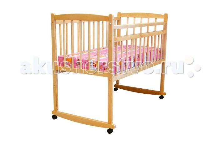 Детская кроватка Массив Беби опускающееся боковое ограждение (качалка)
