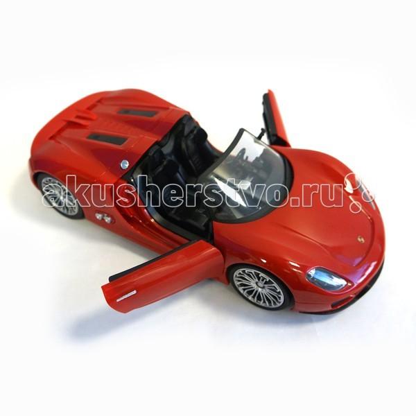Maxitoys Радиоуправляемая машинка Порше 918 1:14 MZ-2046-R/MZ-2046-BLРадиоуправляемая машинка Порше 918 1:14 MZ-2046-R/MZ-2046-BLMaxitoys Радиоуправляемая машинка Порше 918 1:14 - это отличный выбор для маленьких и больших детей!  Особенности: Движение вперед - назад, вправо - влево.  Данная модель с высокой степенью точности повторяет форму кузова и деталировку интерьера прототипа.  Машинка оборудована яркими светодиодными фарами и задними стоп-сигналами. Корпус выполнен из ударопрочного ABS пластика.  Ходовая часть автомобиля оборудована дифференциалом и механическим триммером руля.  Колеса оснащены резиновыми покрышками.  Питание осуществляется от NiMH аккумуляторов.  В комплекте: машинка, пульт управления с батарейкой в комплекте, аккумуляторы для машинки и зарядное устройство.<br>