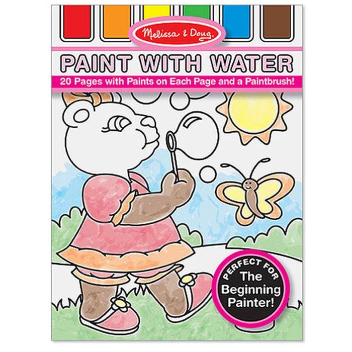 Раскраска Melissa &amp; Doug Рисуем водойРисуем водойРисуем водой Melissa & Doug  Двадцать привлекательных и интересных картинок - сюжетов Мелисса для раскрашивания Вашим юным художником! Интересное решение, когда краски непосредственно включены в набор, капля воды - и можно начинать творить.<br>
