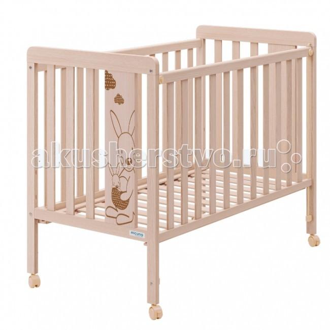 Детская кроватка Micuna Kangaroo 120х60Kangaroo 120х60Детская кроватка Micuna Kangaroo замечательно впишется в интерьер детской комнаты, кроватка веселая и очень красивая.  Кроватки испанской компании Micuna изготавливаются в Валенсии из экологически чистых материалов. В первую очередь, это бук – традиционное дерево для мебели и музыкальных инструментов. Элементы из МДФ – материала, созданного без применения эпоксидных смол и фенола на основе природного полимера лигнина, дополняют конструкцию. Краски и лак, которыми покрывают кроватки, приготовлены из натуральных компонентов и не создают вредных испарений.  Основные характеристики: материал: бук, МДФ бортик кроватки регулируется по высоте или полностью снимается – кроватку можно превратить в диванчик ложе регулируется по высоте – 2 позиции закрытые болты и шурупы, безопасные для детских пальчиков колёсики со стопором – кровать легко перемещать по квартире и фиксировать на месте дополнительная опция – качалка (приобретается отдельно) в комплект не входит ящик для кровати (можно заказать дополнительно)  Размеры (ДхВхШ): 122х98х66 см.<br>