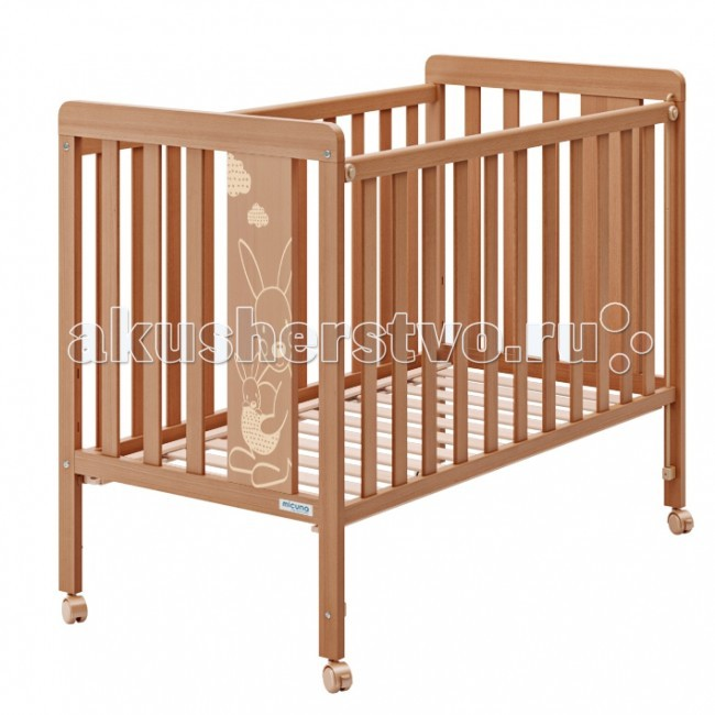 Детская кроватка Micuna Kangaroo 120х60Kangaroo 120х60Детская кроватка Micuna Kangaroo 120х60 замечательно впишется в интерьер детской комнаты, кроватка веселая и очень красивая.  Кроватки испанской компании Micuna изготавливаются в Валенсии из экологически чистых материалов. В первую очередь, это бук – традиционное дерево для мебели и музыкальных инструментов. Элементы из МДФ – материала, созданного без применения эпоксидных смол и фенола на основе природного полимера лигнина, дополняют конструкцию. Краски и лак, которыми покрывают кроватки, приготовлены из натуральных компонентов и не создают вредных испарений.  Особенности: материал: бук, МДФ бортик кроватки регулируется по высоте или полностью снимается – кроватку можно превратить в диванчик ложе регулируется по высоте – 2 позиции закрытые болты и шурупы, безопасные для детских пальчиков колёсики со стопором – кровать легко перемещать по квартире и фиксировать на месте дополнительная опция – качалка (приобретается отдельно) в комплект не входит ящик для кровати (можно заказать дополнительно)<br>