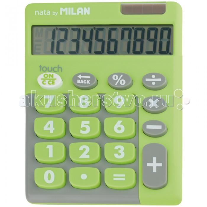 Milan Калькулятор настольный 10 разрядов двойное питание 145х106х21 мм Touch Калькулятор настольный 10 разрядов двойное питание 145х106х21 мм Touch