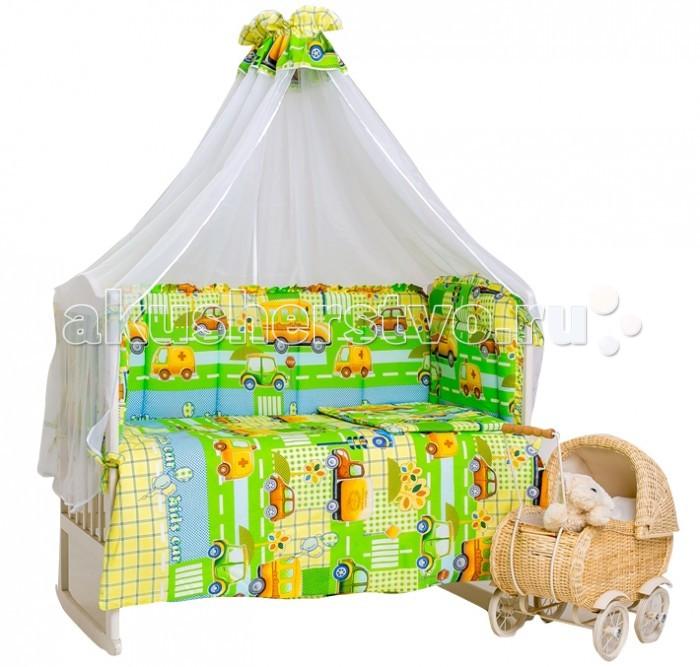 Комплект в кроватку Мой Ангелочек Машинки (7 предметов)
