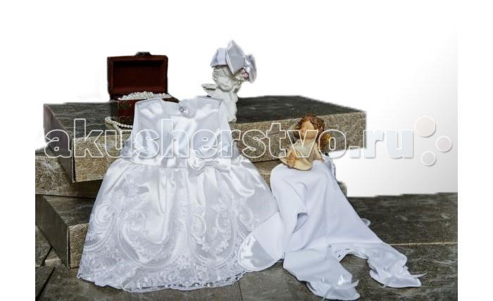 Комплект на выписку Мой Ангелок Принцесса (3 предмета)Принцесса (3 предмета)Нарядный комплект для девочки Мой ангелок Принцесса, на выписку из роддома.   Слип из 100% хлопка, украшен атласными бантиками и атласными царапками. Шикарное платье с пышной юбкой из атласа и кружева. Дополняет платье праздничная повязочка на голову.   Упакован в подарочную коробку. В таком нарядке малышка будет настоящей принцессой.  Комплектация: боди с длинным рукавом (100% хлопок) платье с пышной юбкой (атлас, кружево) повязочка на голову (100% хлопок)  Ткань: трикотаж - 100% хлопок кружево атлас<br>