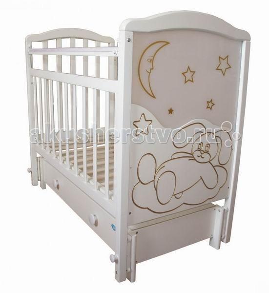 Детская кроватка Ивашка Мой малыш 12 (маятник продольный)