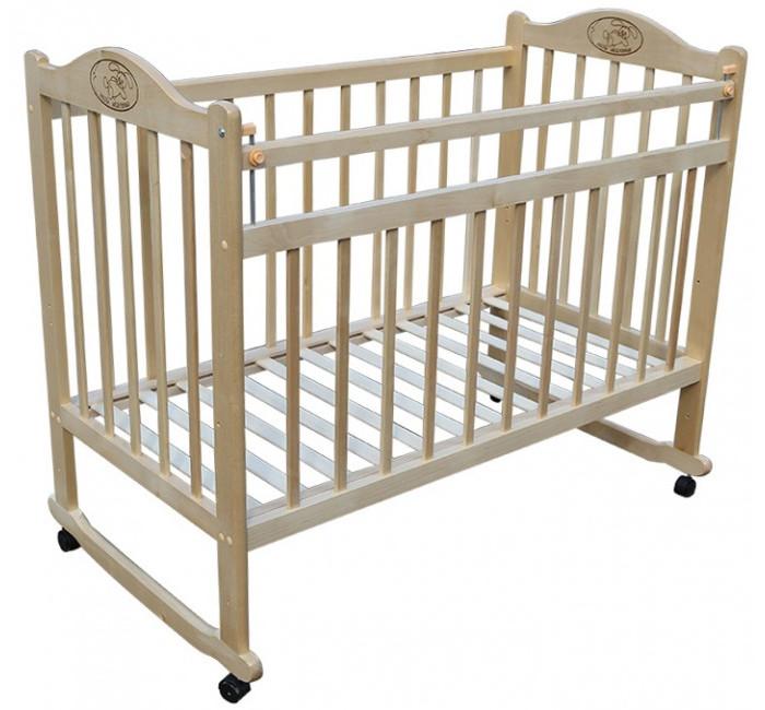 Детская кроватка Ивашка Мой малыш  1 (колесо-качалка)Мой малыш  1 (колесо-качалка)Кроватка детская Ивашка Мой малыш 1 выполнена из экологичных, гипоаллергенных материалов. Кроватка обладает высоким качеством и комфортом, как для ребенка, так и для родителей. Благодаря современному дизайну и спокойной, мягкой расцветке она впишется в интерьер любой спальни или детской комнаты.  Кровать изготовлена из массива березы Имеются полозья для качания, также можно установить колесики для удобства перемещения кровати по квартире Положение боковой планки регулируется опускающимся устройством Боковая стенка съемная Двойной уровень поддона Днище - реечное  Внутренний размер 120х60 см Размеры (ШxДxВ) 70x125x109 см<br>