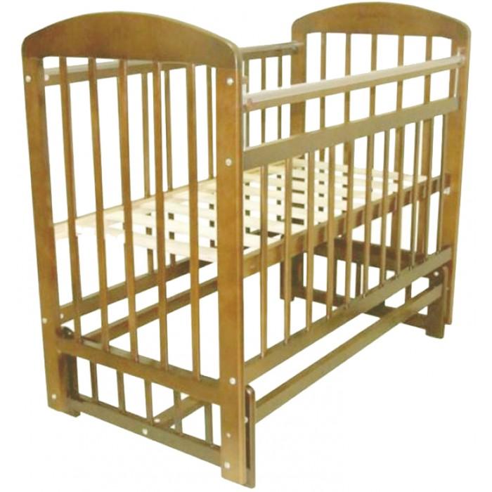 Детская кроватка Ивашка Мой малыш 9 (маятник поперечный)Мой малыш 9 (маятник поперечный)Кроватка детская Ивашка Мой малыш 9 выполнена из экологичных, гипоаллергенных материалов. Кроватка обладает высоким качеством и комфортом, как для ребенка, так и для родителей. Благодаря современному дизайну и спокойной, мягкой расцветке она впишется в интерьер любой спальни или детской комнаты.  Кровать изготовлена из массива березы Механизм маятника поперечный Положение боковой планки регулируется опускающимся устройством Боковая стенка съемная Специальная защитная накладка на бортиках Есть фиксатор, предотвращающий раскачивание кроватки Двойной уровень поддона Днище - реечное  Внутренний размер 120х60 см Размеры (ШxДxВ) 70x125x109 см<br>
