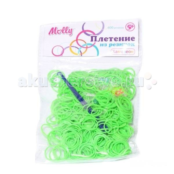 Molly Резинки для плетения хамелеоны 600 шт.