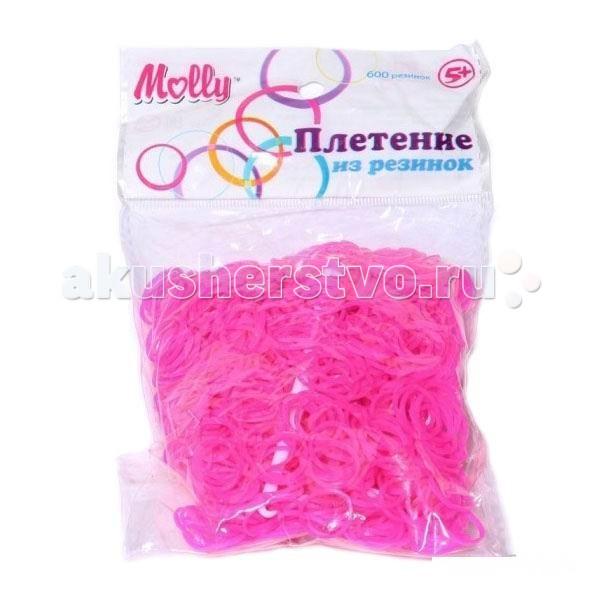 Molly Резинки для плетения однотонные 600 шт.Резинки для плетения однотонные 600 шт.Резинки для плетения однотонные 600 шт.  Крючок для плетения и S-клипсы 24 шт. в комплекте.  Плетение из резинок (Rainbow Loom) - молодое и очень популярное хобби среди детей, подростков и взрослых по всему миру. Используя простые в обращении приспособления для плетения, можно в короткий срок сплести множество великолепных, ярких, красивых браслетов, подвесок, колец, сумочек, шарфов, различных аксессуаров (например, чехол для телефона), фигурок, героев мультфильмов и много другое. Пластиковый станок для плетения полноразмерный или компактный, а также крючок для плетения удобно брать в дорогу.   Использование одинаковых резинок, удачное сочетание разных по форме и цвету - все это позволяет создавать стильные неповторимые браслеты, выполненные с использованием определенной техники.  Плетение из резинок - хобби, которое потребует некоторое количество времени и усилий. Результат того стоит!<br>