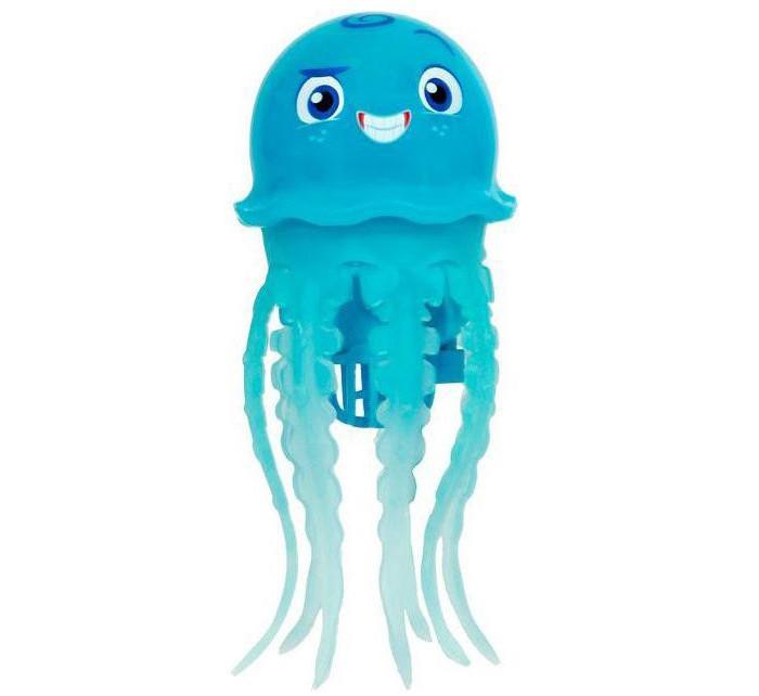Море чудес Игрушка для купания Радужная медузаИгрушка для купания Радужная медузаМоре чудес Радужная медуза яркая и веселая очарует вашего малыша.   Особенности: Радужные медузы светятся, изменяя цвета.  Медуза опускается на дно и поднимается к поверхности, шевеля щупальцами и повторяя движения настоящего животного. Не требует специального ухода, прослужит дольше, если после игры вынимать ее из воды.  Работает от двух щелочных или аккумуляторных батареек типа ААА(LR6).<br>