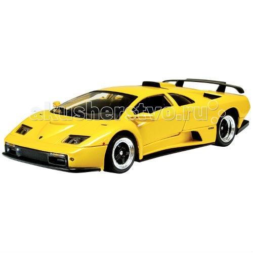 MotorMax Автомобиль 1:18 Lамborghini Diablo GTАвтомобиль 1:18 Lамborghini Diablo GTMotorMax Автомобиль 1:18 Lамborghini Diablo GT - дополните личную коллекцию итальянцем Lamborghini Diablo GT, созданным в масштабе 1:18 известным гонконгским брендом Motormax.  Уникальная модель редкого автомобиля, существующего всего в 80 экземплярах, с шикарным богатым салоном и не менее очаровательным внешним дизайном.   Сделанная из литого металла, машина имеет приятную тяжесть, плавно и аккуратно катится по ровной поверхности. Вы можете поворачивать руль и наблюдать за движением колес, открывать двери, багажник и капот. Играя с автомобилем, ребенок развивает мелкую моторику и воображение. Но даже в качестве неподвижной модели эта игрушка очень хороша и будет занимать достойное место на полке среди других игрушечных машин.<br>