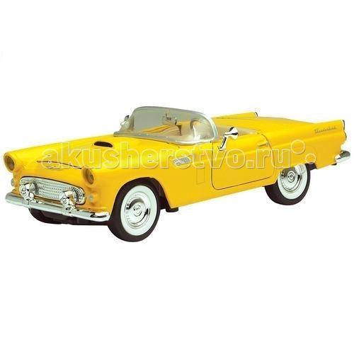 MotorMax Автомобиль 1:24 1956 Ford ThunderbirdАвтомобиль 1:24 1956 Ford ThunderbirdMotorMax Автомобиль 1/24 1956 Ford Thunderbird представлен в масштабе 1:24 и готов стать венцом вашей личной коллекции моделей игрушечных автомобилей.   У игрушки открываются двери, а в шикарный салон можно усадить и водителя, и пассажира. Если открыть капот, можно увидеть реалистичный моторный отсек, а в открывающийся багажник сложить ценный груз.   Мощный суперкар 1956 года выпуска просто роскошен! Сделанная из литого металла, машина абсолютно безопасна для юных водителей, имеет приятную тяжесть, плавно и аккуратно движется по ровной поверхности. Прорезиненные шины и особенное внимание к деталям делают игрушку максимально похожей на прототип.   Уникальная модель станет прекрасным подарком как для коллекционера, так и для ребенка. Удивляйте и наслаждайтесь лучшими игрушками от Motormax!   В процессе игры с машинкой развивается воображение и мелкая моторика, что немаловажно для детей.<br>