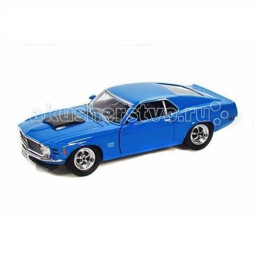 MotorMax Автомобиль 1:24 1970 Ford Mustang Boss 429Автомобиль 1:24 1970 Ford Mustang Boss 429MotorMax Автомобиль 1:24 1970 Ford Mustang Boss 429 - максимально соответствует настоящему автомобилю как внешне, так и внутренне: у игрушки открывающиеся двери, капот и багажник, а передние колеса поворачиваются вбок. Шины легко катаются по плоской поверхности и сделаны из натуральной резины. Интерьер внутри салона воссоздан со 100% точностью.   Игра с машинкой развивает мелкую моторику и воображение, приносит настоящее удовольствие. Пожалуй, это лучший выбор для юного водителя.   Сделанная из литого металла по технологии Die-Cast, маленькая копия автомобиля Ford Mustang Boss 429 понравится как ребенку, так и взрослому коллекционеру.   Motormax — бренд из Гонконга, который известен пристальным вниманием к деталям, поэтому играть с маленьким экземпляром раритетного масл-кара — невероятное удовольствие. Игрушечная машина выглядит стильно, реалистично и будоражит кровь!<br>