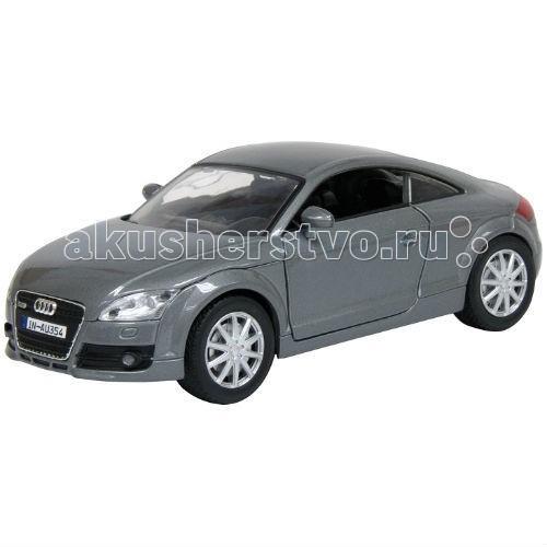 MotorMax Автомобиль 1:24 2007 Audi TT CoupeАвтомобиль 1:24 2007 Audi TT CoupeMotorMax Автомобиль 1:24 2007 Audi TT Coupe - с шикарным богатым салоном и не менее очаровательным внешним дизайном порадует коллекционеров и юных водителей.   Дополните личную коллекцию автомобилем, созданным в масштабе 1:24 известным гонконгским брендом Motormax. Или преподнесите игрушку в подарок маленькому гонщику: ему непременно понравится реалистичность машины! При создании игрушки особенное внимание уделялось мелким деталям, чтобы достичь максимальной схожести с оригинальным авто.   Сделанная из литого металла, машина имеет приятную тяжесть, плавно и аккуратно катится по ровной поверхности. Вы можете поворачивать руль и наблюдать за движением колес, открывать двери, багажник и капот.   Играя с автомобилем, ребенок развивает мелкую моторику и воображение. Но даже в качестве неподвижной модели эта игрушка очень хороша и будет занимать достойное место на полке среди других игрушечных машин.<br>