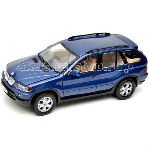 MotorMax Автомобиль 1:24 BMW X5Автомобиль 1:24 BMW X5MotorMax Автомобиль 1:24 BMW X5 - способен порадовать коллекционеров, поскольку сделан с особым вниманием к мельчайшим деталям. Motormax, базирующийся в Гонконге, — известный бренд, игрушки которого действительно не стыдно иметь в личной коллекции.   Классический автомобиль в стильной упаковке выглядит ярко и реалистично. Копия кроссовера понравится юным гонщикам, ведь внутрь легко поместится пассажир, а водитель может поворачивать руль и наблюдать, как реагируют на повороты передние колеса. В багажник можно сложить какие-то вещи, а открывающийся капот сделает игру в поломку натуральной, ведь можно разглядеть элементы моторного отсека!   Салон игрушечной машинки идентичен настоящему автомобилю, поэтому иметь данный экземпляр в коллекции — истинное наслаждение<br>