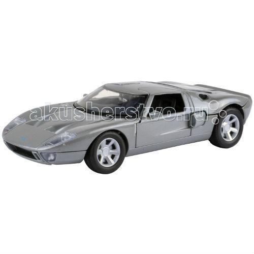 MotorMax Автомобиль 1:24 Ford GT ConceptАвтомобиль 1:24 Ford GT ConceptMotorMax Автомобиль 1:24 Ford GT Concept - был выпущен, когда концерн Ford существовал уже целый век, поэтому иметь эту модель в своей личной коллекции мечтает, пожалуй, каждый поклонник машин этой марки. Юный водитель также будет рад подарку, ведь игрушка сделана с особенной реалистичностью и любовью к мелким деталям.   Отлитый из металла корпус вмещает детали, сделанные из высококачественного пластика. Интерьер воссоздан в точности как у прототипа и вызывает полный восторг, как и плавно катящиеся по ровной поверхности колеса, у которых полноценные резиновые шины. У машинки открываются двери, поворачиваются руль и колеса, а еще вы можете заглянуть в багажник и под капот. Также в точности воссоздан внешний вид двигателя.   Классическая модель 60-х для ценителей прекрасного выпущена в масштабе 1:24 гонконгским брендом Motormax.<br>